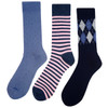 Assorted Pack (3 Pairs) Men's Casual Fancy Crew Socks -3PKS-S/S-16