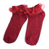 24pc Solid Color Assorted Ruffle Frilly Lace Women Socks - LLS-24PKASST