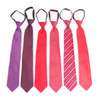 6pc Microfiber Classic Red Zipper Pre-Tied Neckties - MPWZ-RD