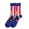 "Men's Donald Trump ""MAKE HAIR GREAT AGAIN"" American Flag Novelty Socks"