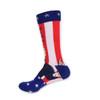 "Men's Donald Trump ""MAKE HAIR GREAT AGAIN"" American Flag Novelty Socks - NVS19423-T"