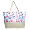 Summer Flamingo & Palm Leaves Rhinestone Ladies Tote Bag - LTBG1208