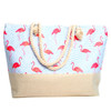 Flamingo Summer Rhinestone Ladies Tote Bag - LTBG1207