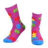 Women's Autism Awareness Novelty Socks - LNVS19531-PUR