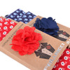 Men's Petite Flowers Cotton Skinny Tie w/ Hanky and Flower Lapel Pin - CTHL1708