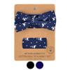 Men's Flamingo Print Cotton Bow Tie & Hanky Set - CTBH1734