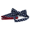 Men's Petite Bows Cotton Bow Tie & Hanky Set - CTBH1736