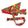 Men's Bright Floral Cotton Bow Tie & Hanky Set - CTBH1738