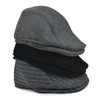 24pc Assorted Fall/Winter Patterned Flat Ivy Hats - MA24I-H4
