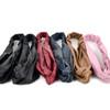 12pc Assorted Ladies Criss Cross Solid Headbands - 12EHB1008