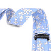 "2.25"" Floral Cotton Slim Tie - NVC-FLORAL6"