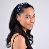 12pc Assorted Ladies Criss Cross Blue Summer Headbands - 12EHB1002-BL