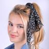 12pc Floral Scrunchie Ribbon Hair Tie - 12SRT-FLR2