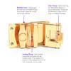 Men's Genuine Leather Sliding Buckle Ratchet Belt MGLBB14