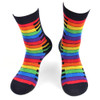 Women's Rainbow Keys Novelty Socks - LNVS19429-BK