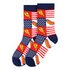 Women's Hot Dogs & Pizza Novelty Socks - LNVS19422