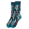 Men's Tropical Birds Novelty Socks - NVS19584-GRN
