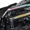 Quilted Black Metallic Waist Fanny Pack - LFBG1303-BK-1