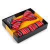 12pc Pack Assorted Striped Pattern Men's Bow Tie & Matching Hanky BTHB1000STP