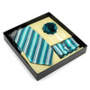 12pc Assorted Pattern Tie,Matching Hanky and Lapel Pin Box Set - THLB4000