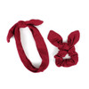 6pc Elastic Head Band with Matching Scrunchy Set - 6EHST-7