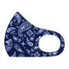 Navy & White Paisley Print Fashion Face Mask - PPE17