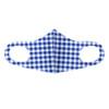 Blue Gingham Plaid Fashion Face Mask - PPE25