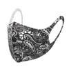 Black & White Paisley Print Fashion Face Mask - PPE36