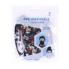 3pcs Black Novelty & Solid Face Masks - 3PPE-NV4