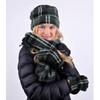 Women's Fleece Charcoal Plaid Winter Set - WNTSET9024