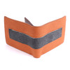 Men's Bi-fold Brown and Black Stripe Cognac Wallet - MLW5216