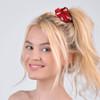 12pc Heart Print Hair Scrunchy - 12SHS-HT-1