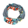 Ladies Summer/ Spring Floral and Striped Print  Headband - EWB1006