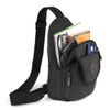 Charcoal Crossbody Canvas Sling Bag Backpack with Adjustable Strap - FBG1820-CHAR