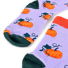 Women's Pumpkin Novelty Socks - LNVS19536-LAV
