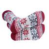 Men's Snowflake Novelty Socks- NVS19618-BUR