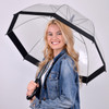 See-Thru-Bubble Wind-Resistant Premium Clear Umbrella with Color Border UC18