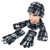 6pc Pack Women's Plaid Printed Fleece Winter Set WNTSET1002