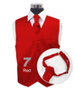 """""""Red"""" Poly Solid Satin Cravat FC1701-7"""
