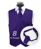 """Dark Purple"" Poly Solid Satin Cravat FC1701-8"
