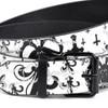 Men's White Fleur-De-Lis Buckle Belts (PB2029)