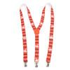 Men's Y-Back Christmas Reindeer Adjustable Elastic Clip-on Suspenders