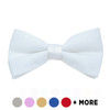 "[Promotion] Men's 2.25"" Poly Satin Banded Bow Ties BTP1301-1"
