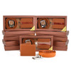 12pc Men's Brown Wallet & Belt Set WB2010BR/ASST