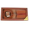 12pc Men's Brown Wallet & Belt Set WB2010BR/ASST