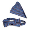 12pc Assorted Men's Big & Tall Neat & Striped Pattern Banded Bow Tie & Hanky BTH5000A