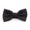 Dotted Banded Bow Tie, Matching Hanky & Black Lapel Pin Set BTHLB07032