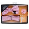 Geometric Pattern Banded Bow Tie, Matching Hanky & Lapel Pin Set BTHLB07052M