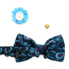 Paisley Pattern Banded Bow Tie, Matching Hanky & Lapel Pin Set BTHLB07048M