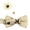 Square Pattern Banded Bow Tie, Matching Hanky & Lapel Pin Set BTHLB07063M